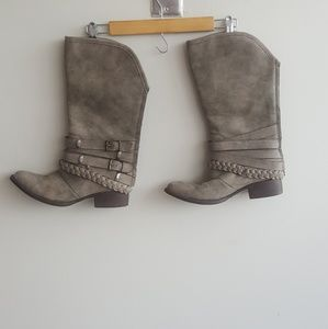 Gray boots